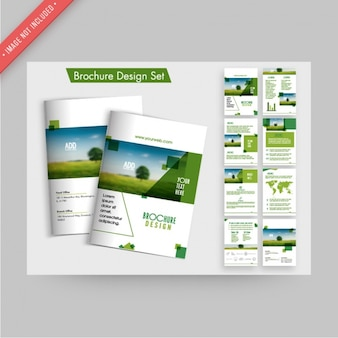 Brochure design set