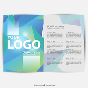 Brochure geometric background