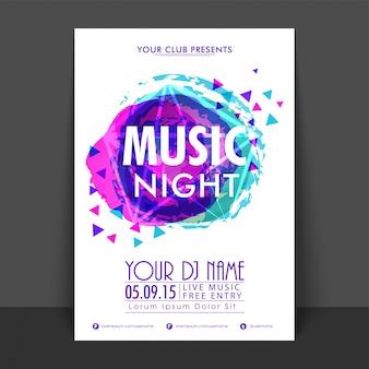 Brochure network nightlife leisure music