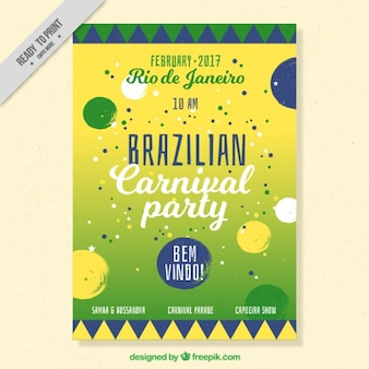 Brochure of brazilian carnival circles