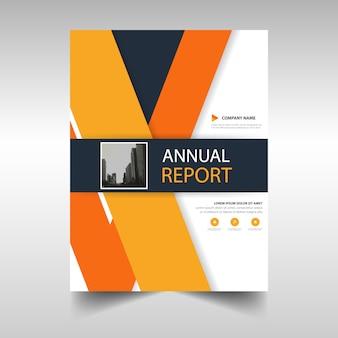Brochure, orange theme
