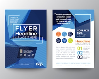 Brochure, polygonal theme