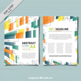 Brochure template in modern design of squares