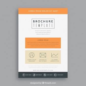 Brochure template with classic style