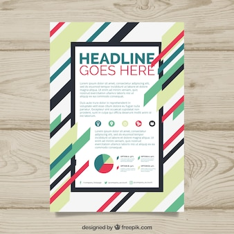 Brochure template with colorful style