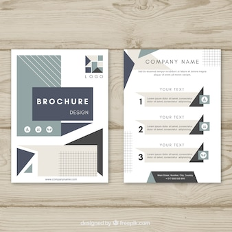 Brochure template with orginal geometry