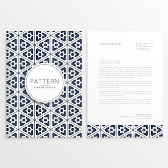 Brochure template with ornamental triangles