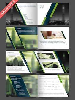 Brochure template with space for images