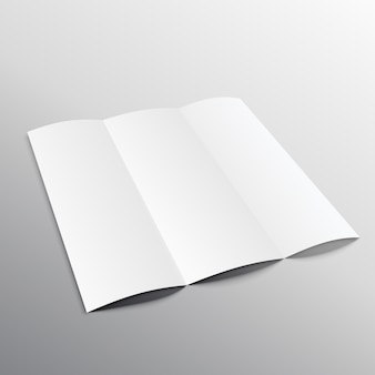 Brochure with 3 parts, mockup