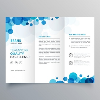 Brochure with blue circles
