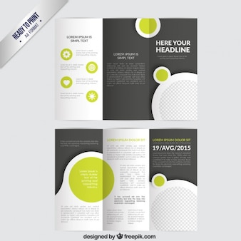 Brochure with circles