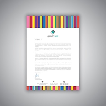 Brochure with full color stripes
