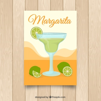Brochure with margarita cocktail