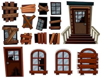 Сломанные двери и окна