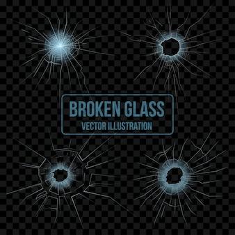 Broken glass set