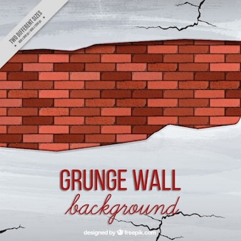 Broken wall with cracks