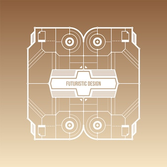 Brown and beige gradient background with futuristic design