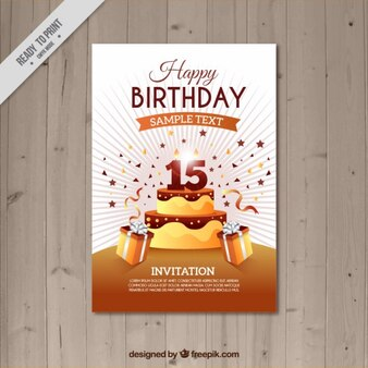 Brown birthday card template