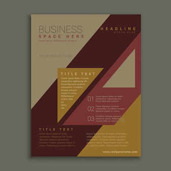 Brown business brochure template
