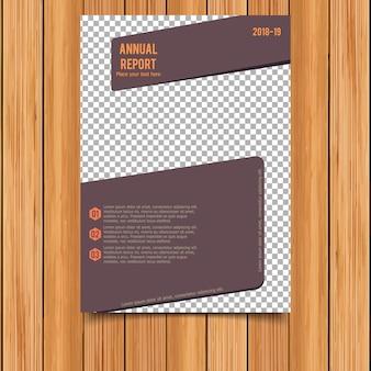 Brown business brochure template
