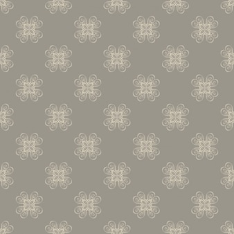 Brown pattern design with retro shapes