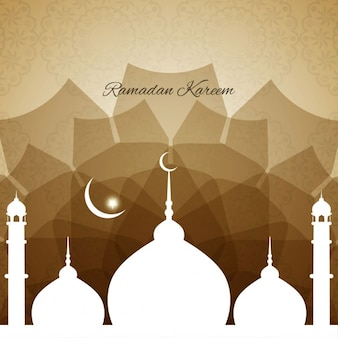 Brown ramadan background