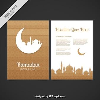 Brown ramadan flyer