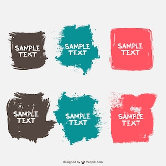 Brush stroke frames vector set