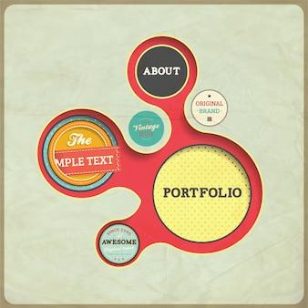Bubble advertise vintage presentation creative