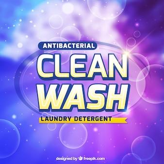洗剤用バブル紫色の背景