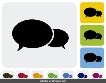 Bubble speech icons collection