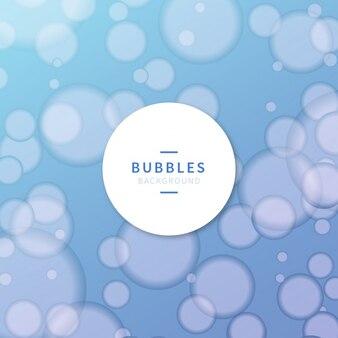 Bubbles blue background