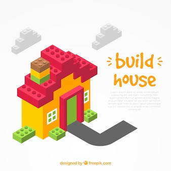 Build bricks house background