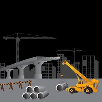 建設現場の建物