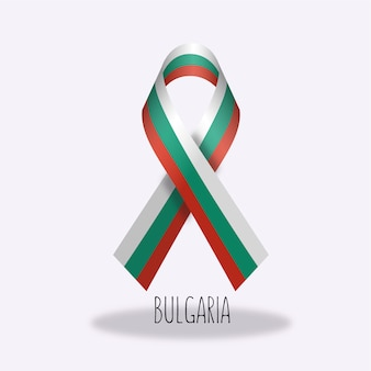 Bulgaria flag ribbon design