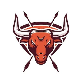 Bull animal sport mascot head logo vector
