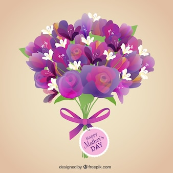 Bunch of flowers for mothers day
