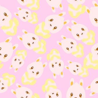 Bunny pattern background