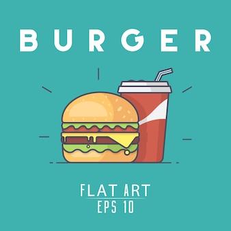 Burger background design