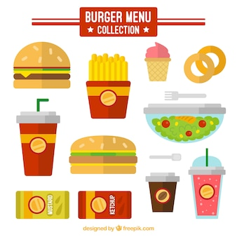 Burger menu in flat design