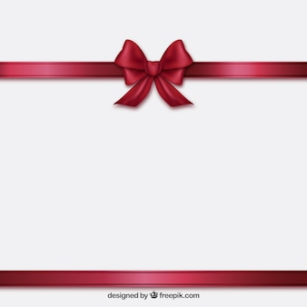 Burgundy ribbon and bow