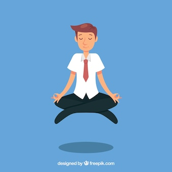 Busines man meditating