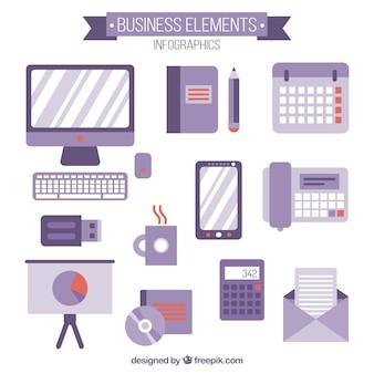 Business accessories in flat design