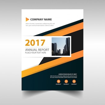 Business annual report of orange stripes