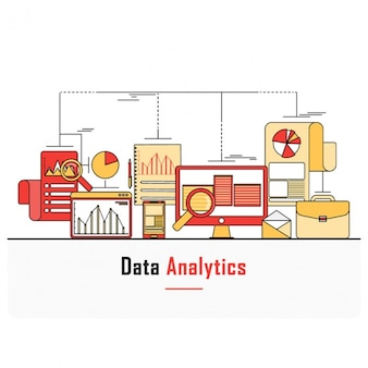 Business background with data analysis