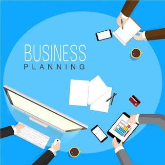 Business background with executives working