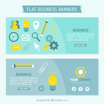 Business banners in flat design