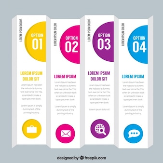 Business banners with options