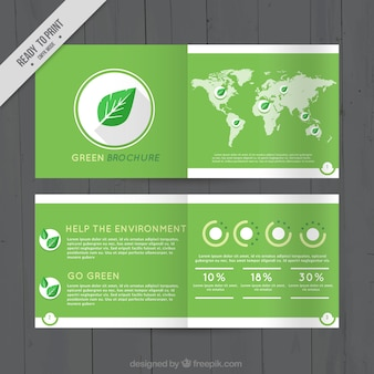 Business brochure about environment