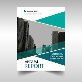 Business brochure, blue